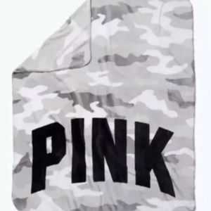 Victoria's Secret PINK Camo Blanket Throw Large